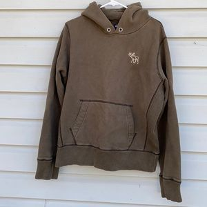 Abercrombie & FitchThick Green Hoodie Large